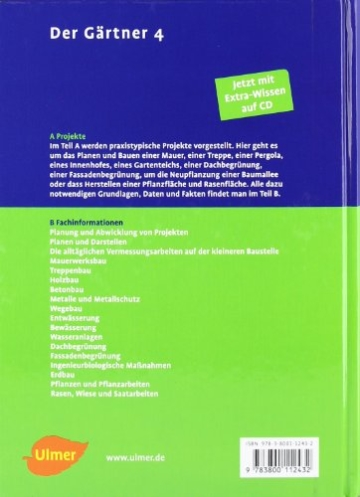 Der Gärtner 4. Garten- und Landschaftsbau: Projekte und Fachwissen - 2