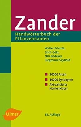 Zander - Handwörterbuch der Pflanzennamen - 1