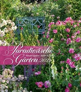 Paradiesische Gärten Kalender 2021, Wandkalender im Hochformat (48x54 cm) - Gartenkalender - 1